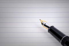 Gold Pen Royalty Free Stock Image