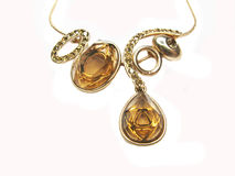 Gold pendant Royalty Free Stock Photo