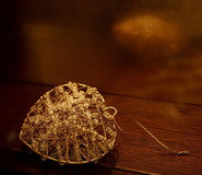 Gold pendant Royalty Free Stock Photography