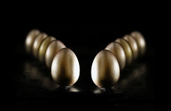 Gold Pension Eggs II Stock Photography
