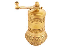 Gold pepper mill Stock Photography