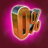 Gold 0 Percent Sign Stock Images