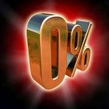 Gold 0 Percent Sign Royalty Free Illustration