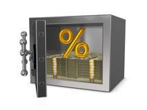 Gold percent Royalty Free Stock Photo