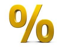 Gold Percent Royalty Free Stock Photography