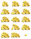 Gold Percent Tags Royalty Free Stock Images
