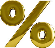 Gold Percentage Sygn Royalty Free Stock Photo
