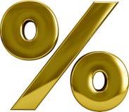 Gold Percentage Sygn Royalty Free Stock Photo