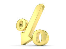 Gold percentage symbol Stock Photos