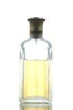 Gold Perfume Bottle isolated. Royalty Free Stock Image
