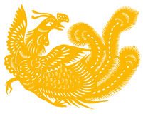 Gold phoenix Stock Photography