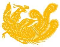 Gold phoenix Stock Photography