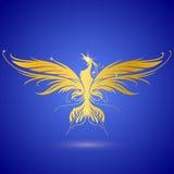 Gold Phoenix stock abbildung