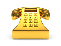 Gold phone Royalty Free Stock Image