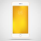 Gold phone Royalty Free Stock Photography