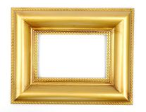 Gold photo frame Stock Photos