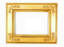 Gold photo frame Royalty Free Stock Photography