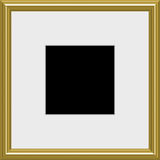 Gold photo frame Royalty Free Stock Image
