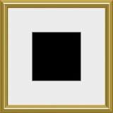 Gold photo frame Royalty Free Stock Image