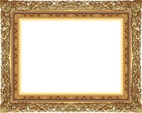 Gold photo frame with corner thailand line floral for picture, Vector design decoration pattern style.frame border design is patte. Rn Thai style Stock Photography