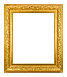 Gold photo frame Royalty Free Stock Images