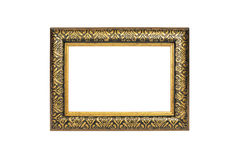 Gold photo frame Royalty Free Stock Photos