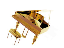 Gold Piano Royalty Free Stock Photography
