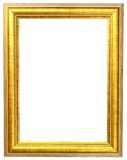 Gold picture frame. Isolate white background Stock Photo