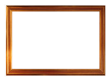 Gold picture frame. Isolated on white background Stock Photography