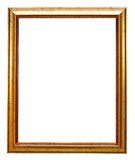 Gold picture frame. Isolated on white Stock Image