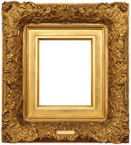 Gold Picture Frame. A Vintage Gold Picture Frame stock photography