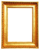 Gold picture frame. A gold picture frame isolated on white royalty free stock image