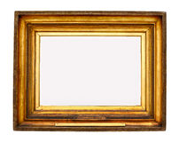 Gold picture frame. Antique old gold picture frame Royalty Free Stock Photos