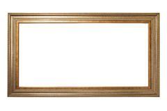 Gold picture frame. A gold picture frame isolated on a white background Stock Photos