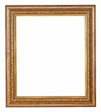 Gold picture frame with a decorative pattern. For picture or texts Royalty Free Stock Photos