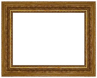 Gold picture frame with a decorative pattern Stock Photography