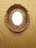 Gold Picture Frame Hanging on wall Royalty Free Stock Photo