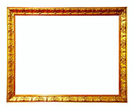 Gold picture frame. Isolated over white background Royalty Free Stock Image