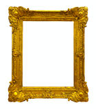Gold picture frame path Royalty Free Stock Image