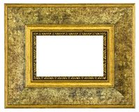 Gold picture frame. Isolated path royalty free stock photography