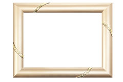 Gold Picture Frame Isolated on White Royalty Free Stock Image