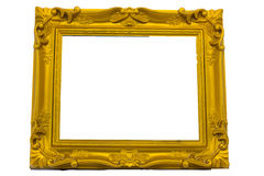 Gold picture frame. isolated on white Royalty Free Stock Images