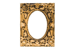 Gold picture frame. Isolated on white Royalty Free Stock Image