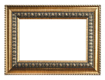 Gold picture frame. isolated on white Royalty Free Stock Photo