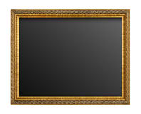 Gold picture frame isolated Stock Image