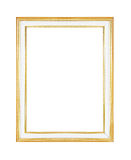 Gold picture frame Isolated on white Royalty Free Stock Images
