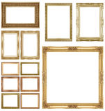 Gold  picture frame Royalty Free Stock Images