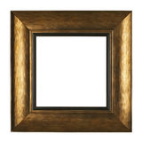 Gold picture frame isolated on white background Royalty Free Stock Image