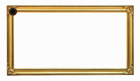Gold picture frame. Isolated on white background Royalty Free Stock Photography