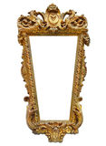 Gold Picture Frame or Mirror Frame Royalty Free Stock Photos